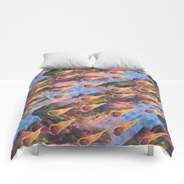 meteor rain Comforters