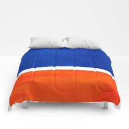 Colorful Bright Minimalist Rothko Orange And Blue Midcentury Modern Art Vintage Pop Art Comforters