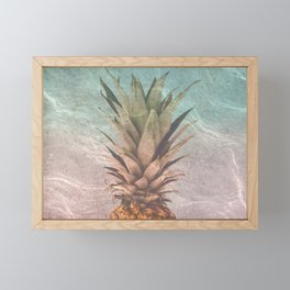 Pineapple and vitamin sea Framed Mini Art Print