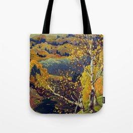 Franklin Carmichael Canadian artist Art Nouveau Post-Impressionism October Gold Tote Bag