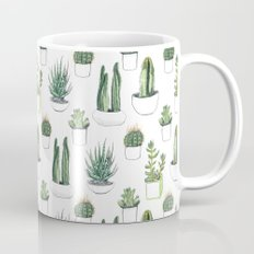 watercolour cacti and succulent Mug