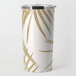 Gold Palm Leaves Dream #1 #tropical #decor #art #society6 Travel Mug