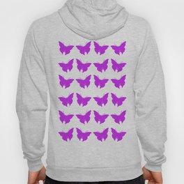 Purple Bold Mod Butterflies Hoody