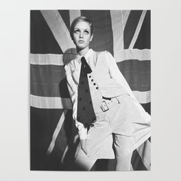 Old British Top Model Poster