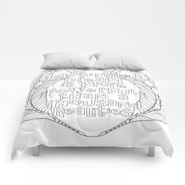 Color Your Own Quote & Feather Mandala Comforters