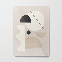 Abstract Minimal Shapes 25 Metal Print