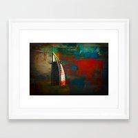 arab Framed Art Prints featuring Burj Al Arab by Christine Becksted Images