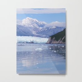 Glacier Summit Reflection Metal Print