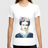 frida kahlo T-shirts featuring Frida Kahlo  by South Pacific Prints