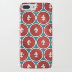 Polka Fleur de Lis iPhone 7 Plus Slim Case
