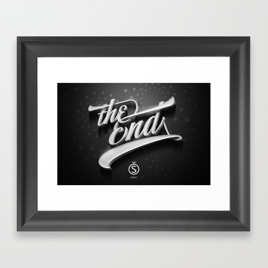 The End — Promotional artwork for Storefront, a font by Sudtipos.  Framed Art Print