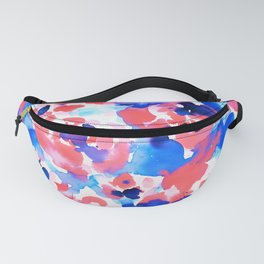 Abstract Flora Blue Fanny Pack