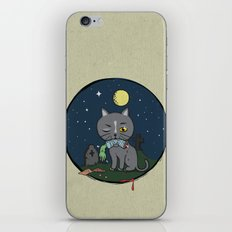 Cats love zombie meat! iPhone & iPod Skin