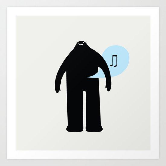 musical monster moment Art Print