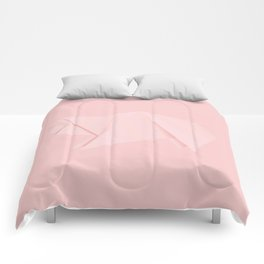 White origami pig Comforters