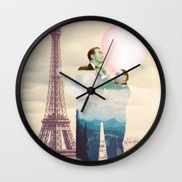 Chewingum In Paris Wall Clock