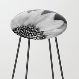 B&W Sunflower Counter Stool