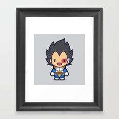 FunSized Vegeta Framed Art Print