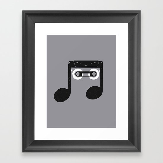 Analog Music Framed Art Print