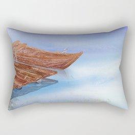 Perfect reflection of beautiful sky   Miharu Shirahata Rectangular Pillow