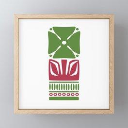 Nordic Green Flower Framed Mini Art Print