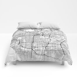 Minimal City Maps - Map Of Los Angeles, California, United States Comforters