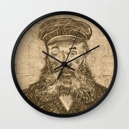 Portrait of Postman Joseph Roulin by Vincent van Gogh Wall Clock