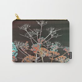 WILDFLOWERS in RED Carry-All Pouch