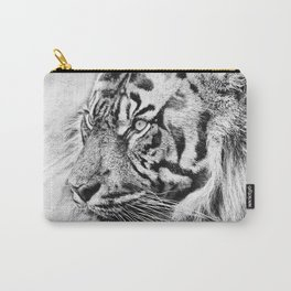 The mysterious eye of the tiger. WB. Square Carry-All Pouch