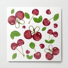 Cherry berry/ cherry leaves/ cherry pattern/ juice cherry Metal Print
