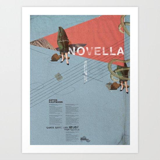 Novella- Mixed media Art Print