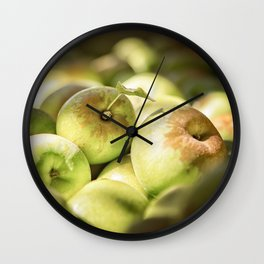 Green Jewels Wall Clock