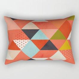 coral geometry Rectangular Pillow