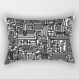 Tree Of Line Rectangular Pillow