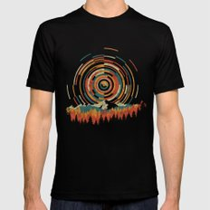 The Geometry of Sunrise Black MEDIUM Mens Fitted Tee