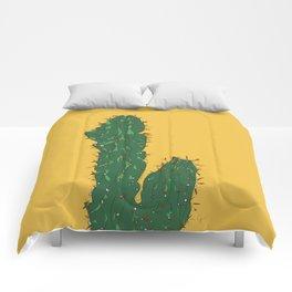 Mexico City (Ciudad de México), Mexico Cactus Travel Poster Comforters