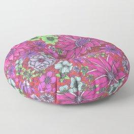 Secret Garden in Pink Floor Pillow