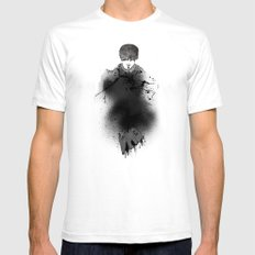 Style outside, man inside White SMALL Mens Fitted Tee