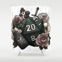 Rogue Class D20 - Tabletop Gaming Dice Shower Curtain