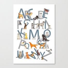 Dog Breed Alphabet Canvas Print