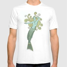Under the Sea Mens Fitted Tee MEDIUM White