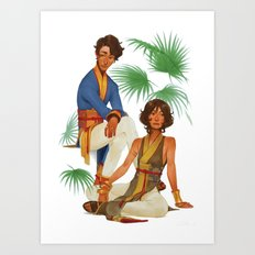 Silk and Linen Art Print
