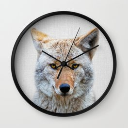 Coyote - Colorful Wall Clock