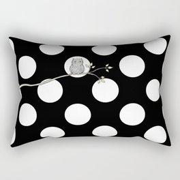 Out on a Limb - Polka Dot Owl Moon Rectangular Pillow