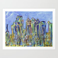 Philadelphia Skyline Painting Art Print