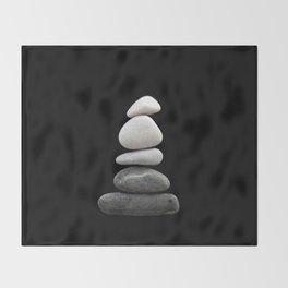 balance pebble art Throw Blanket