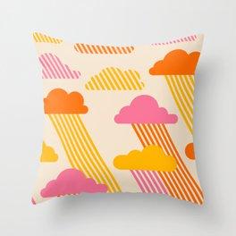 Pink Skies Throw Pillow