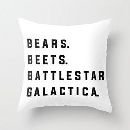 Bears Beets Battlestar Galactica - the Office Throw Pillow