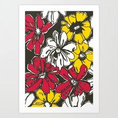 Fleur With Yellow Art Print
