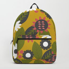 Mustard floral graden Backpack